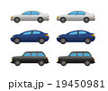 セダン型自動車3点、アウトライン有・無 19450981