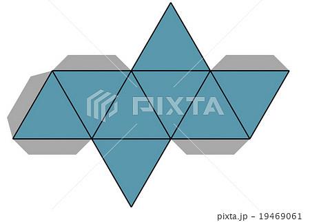 正八面体の展開図のイラスト素材...