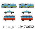路線バス・タクシー・小型観光バス3点、アウトライン有・無 19478632