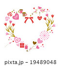 Heart frame of love elements with white background 19489048
