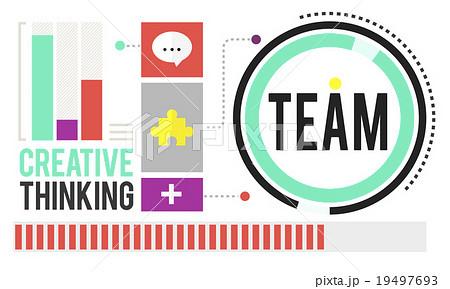 Team Corporate Teamwork Collaboration Assistance Conceptのイラスト素材 [19497693] - PIXTA