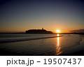夕日 海 海岸の写真 19507437