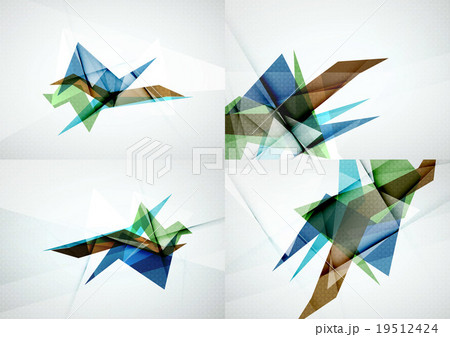 Set of angle and straight lines design abstractのイラスト素材 [19512424] - PIXTA