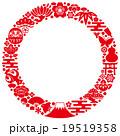 和風 アイコン 円のイラスト 19519358