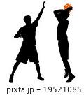 バスケ バスケットボール ランナーのイラスト 19521085