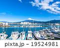 【静岡県】田子の浦港・富士山と漁船 19524981