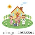 在宅医療スタッフと患者イメージ(医者・看護師・老夫婦) 19535591