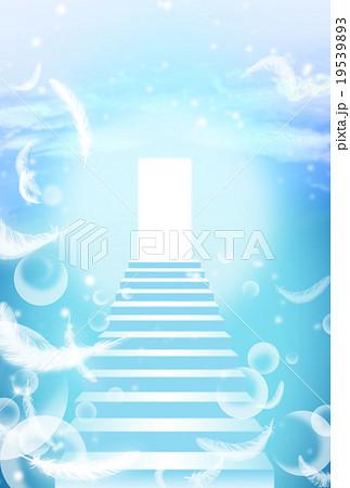 光と羽の舞う階段 19539893