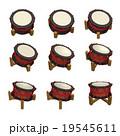 締め太鼓 斜め 3D 9パターン 19545611