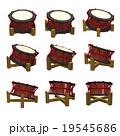 締め太鼓 斜め 3D 9パターン 19545686