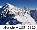 穂高連峰 冬山 雪山の写真 19548823