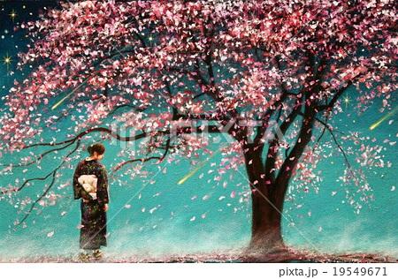 星が流れて桜舞う 19549671