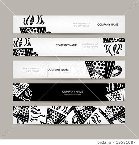 banners template coffee cup designのイラスト素材 19551087 pixta