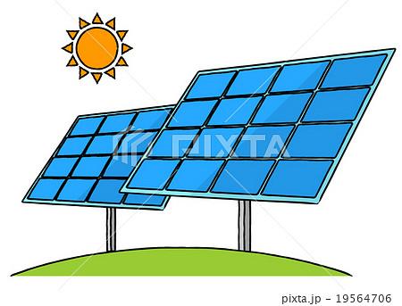太陽光パネルのイラスト素材 19564706 Pixta