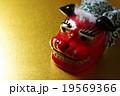 獅子舞 正月 イメージ 背景素材 19569366