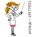 女性 医者 指示棒のイラスト 19577631