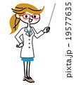 女性 医者 指示棒のイラスト 19577635