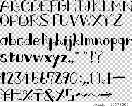 Hiragana katakana English letter collection (March · English letters) 19578005