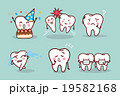 cartoon tooth with expression 19582168
