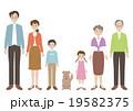 家族 三世代家族 ペットのイラスト 19582375
