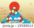 年賀状素材 正月 鶴のイラスト 19589014
