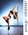 Sexy pole dance woman 19589987