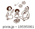 家族 花見 弁当のイラスト 19595061