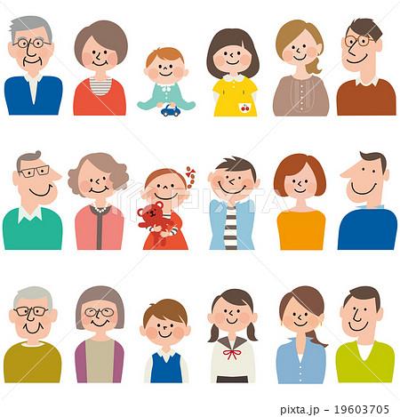 三世代3家族18人セット 19603705