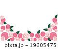 枠 フレーム 花のイラスト 19605475