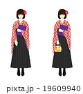 女性 袴 卒業のイラスト 19609940