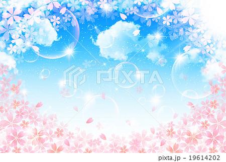桜 春 花 背景  19614202