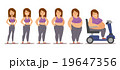 Fat man cartoon style different stages vector 19647356