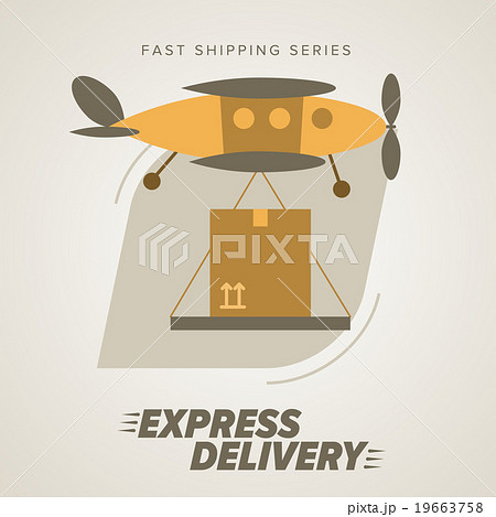 Express Delivery Symbols. Worldwide Shipping. 19663758