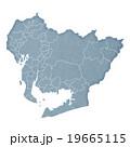 愛知県地図 19665115