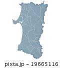 秋田県地図 19665116