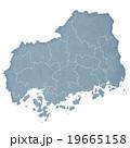 広島県 地図 広島県地図のイラスト 19665158