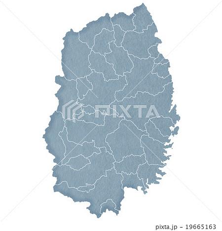 岩手県地図 19665163