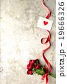 薔薇 花束 メッセージカードの写真 19666326