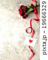 薔薇 花束 メッセージカードの写真 19666329