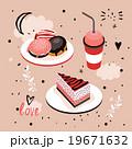 ケーキ 食 料理のイラスト 19671632