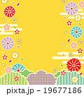 背景素材 花びら 和柄のイラスト 19677186