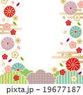 背景素材 花びら 和柄のイラスト 19677187