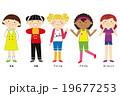 世界の子ども 女のこ5人 19677253