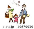 お花見家族(カラー) 19679939