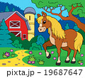 馬 ベクター テーマのイラスト 19687647