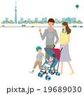 春 桜 家族 イラスト 19689030