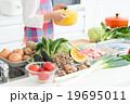 キッチン 食材 鍋の写真 19695011