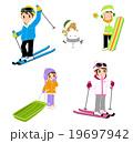 家族でスキー 19697942