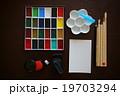 趣味の絵手紙道具セット(顔彩・筆・画仙紙・硯・朱肉・ゴム印・梅皿とスポイト) 19703294