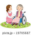 介護 高齢者 女性のイラスト 19705687
